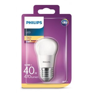 Bombilla led esfera calido philips e27 40w