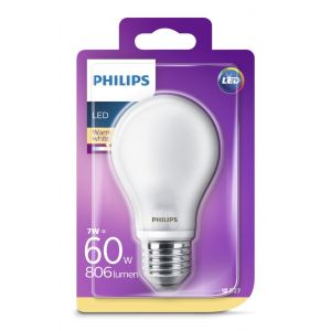Bombilla led calido philips e27 60w