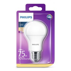 Bombilla led calido philips e27 75w