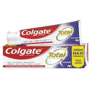 Pasta dentífrica total blanqueador colgate 75 ml