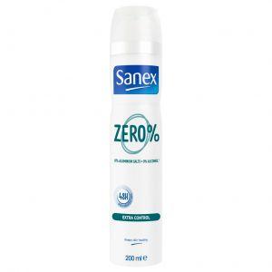 Desodorante zero 0% extracontrol sanex spray 200ml