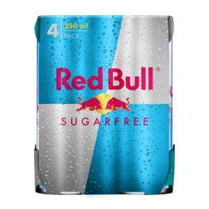 Bebida energetica sin azucar  red bull lata p-4 250