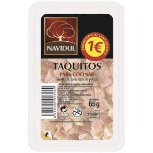 Taquitos jamón curado navidul 60g pvp 1,00 euro