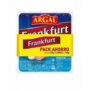 Salchichas frankfurt argal p3x140g