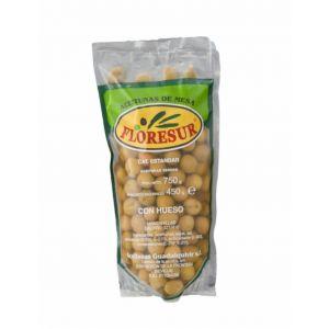 Aceituna manzanilla con hueso rellena de anchoa floresur 450g
