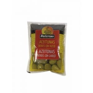 Aceituna manzanilla con hueso  fragata bolsa 100g