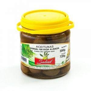 Aceituna gordal rayada aliñada salud bote 700g