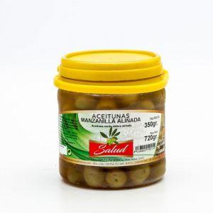 Aceituna manzanilla aliñada la salud bote 700g