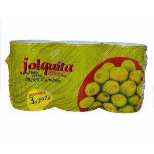 Aceituna rellena de anchoa manzanilla  jolca p3x120gr