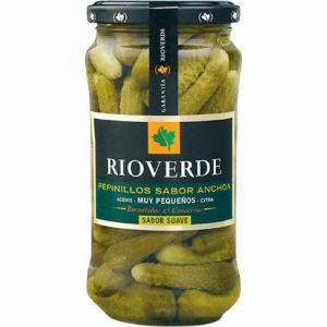 Pepinillos  sabor anchoa rioverde tarro 180g