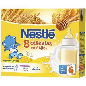 Papilla liq 8 cereales nestle  p2x500g