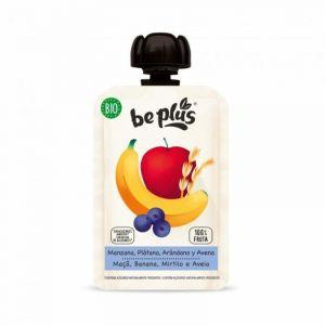 Pouch manzana-platano-arandanos-avena bio be plus 100gr