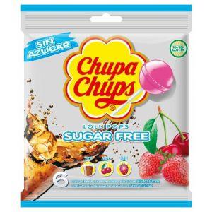 Caramelos con palo sin azucar  chupa chups bolsa 6 ud