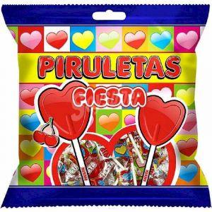 Caramelos con palo piruleta fiesta bolsa 7ud