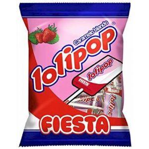 Caramelos con palo fresa lolipop bolsa 7ud