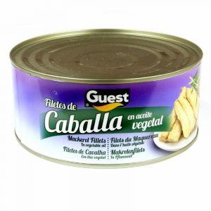 Caballa filete aceite de girasol guest ro1000 650g ne