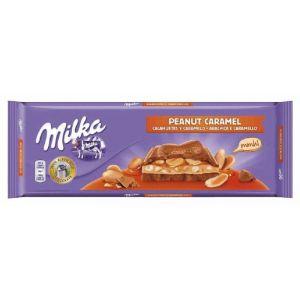 Chocolate  caramelo/cacahuete milka  276g