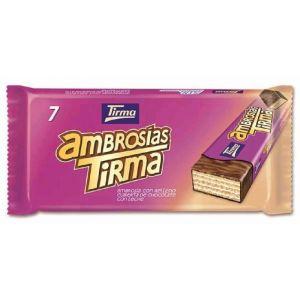 Chocolatina con leche ambrosia tirma p7x21,5g