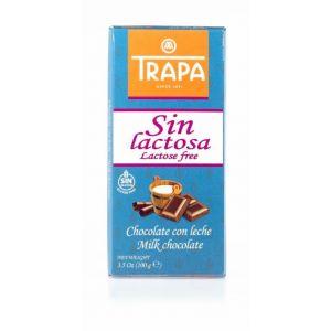 chocolate con leche sin lactosa trapa 100g