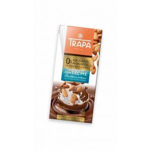 Chocolate s/az leche almend ent trapa 175g