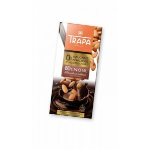 Chocolate s/azucar 80% noir almendra  entera trapa 175g
