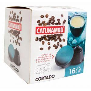 Cafe en capsulas cortado catunambu compatible con dolce gusto 16 capsulas