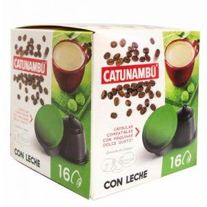 Café en capsulas con leche catunambu compatible con dolce gusto 16 capsulas