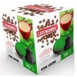 Cafe en capsulas descafeinado con leche catunambu compatible con dolce gusto 16 capsulas