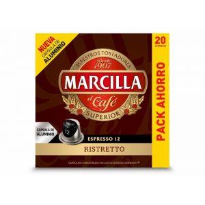 Cafe en capsulas ristretto marcilla 20 capsulas
