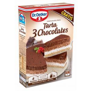 Tarta de tres chocolates dr.oetker 270g
