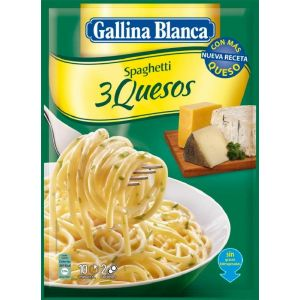 Pasta espaguetis 3 quesos gallina blanca 500ml