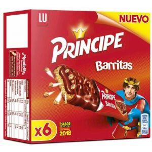 Galleta barrita principe lu pack de 6 unidades de 28g