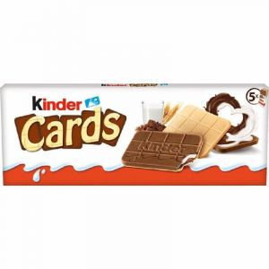 Galleta rellena cards kinder 5x20 128gr