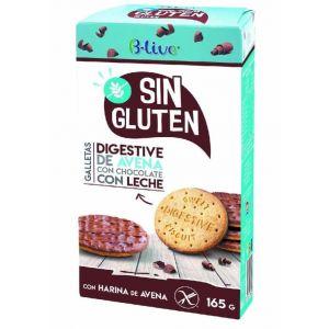 Galleta digestive sin gluten choco leche blive 165gr