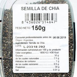 Semilla chia san blas tarro 150g