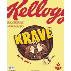 Cereales krave choco blanco kellogs 375g