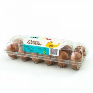 Huevos frescos clase m  mas  12ud