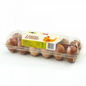 Huevos frescos clase l  mas  12ud