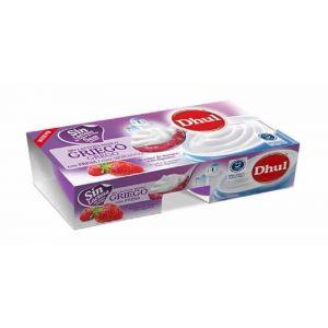 Yogur griego sin lactosa fresa dhul p-2x125g