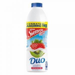 Yogur líquido sveltesse 0% fresa-kiwi nestle 1kg