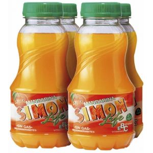 Bebida  mandarina simon life pet p-4 80cl