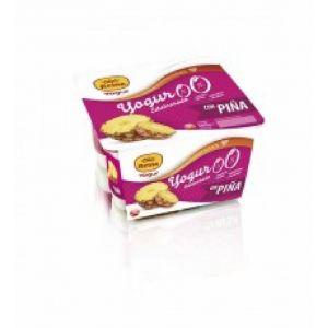 Yogur edulcorado 0%0% piña reina p-4x 125gr