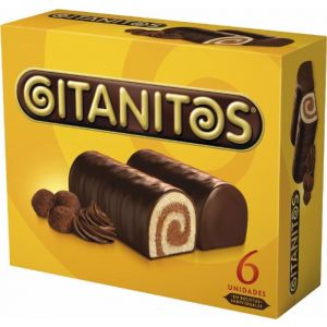Bizcochitos  rellenos de chocolate gitanitos  p6x165g
