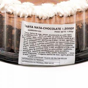 Tarta nata/chocolate zampabollos 1200g