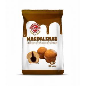Magdalena rellena chocolate lopez  220g