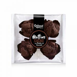 Muffins chocolate dulcesol p-4 x75gr