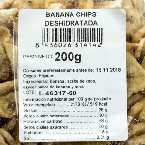 Banana laminada san blas 250g