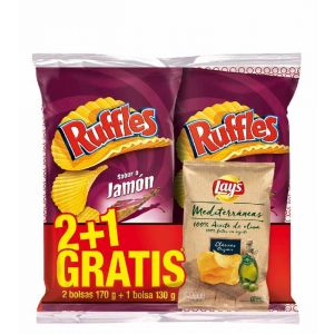 Lote 2 jamon ruffles p2x160g