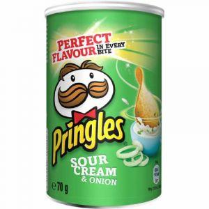 Patatas fritas  sour cream pringles lata 70g