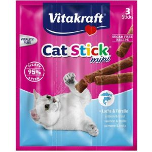 Snack para gato con salmón y trucha vitakraft pack de 3 unidades